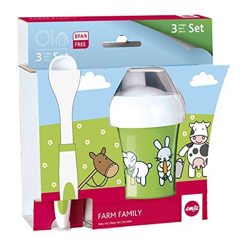 Emsa-509095-3-teiliges-Baby-Geschirr-Set-Farmmotiv-Bunt-Farm-Family