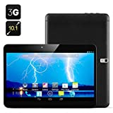 """Black 2015 New Model 10.1"""" Quad Core Tablet Pc Google Android 4.4.2 Kitkat, 1gb Ram, 8gb Nand Flash, Built-in Bluetooth Gps, Fm Radio, Hdmi, Google Play Pre- Installed, Dual Camera, 3d Game Supported Quad Core 2g 3g GSM Wcdma GPS Bluetooth Phone Tablet Pc ROM Dual 2 Sims Dual Camera Unlocked video review"""