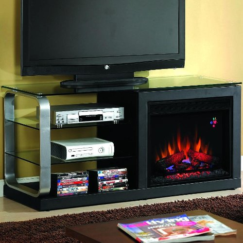Luxe 52-inch Electric Fireplace Media Console - Black Metal - 23mm9501 image B005T0920A.jpg