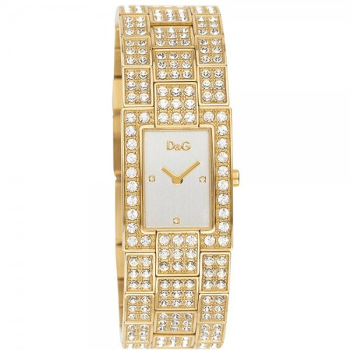 Dolce  &  Gabbana Women's DW0007 Gold Stainless-Steel Quartz Watch with White Dial