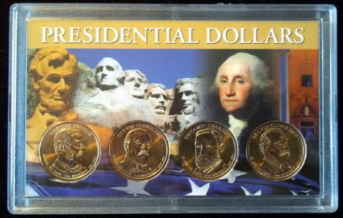 Set of 4 Uncirculated 2012-P Presidential Dollars in Full Color Holder IN STOCK