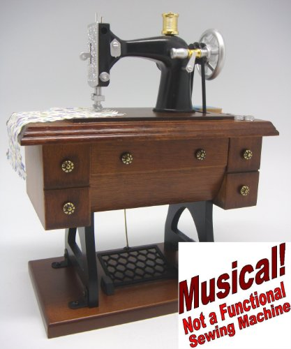 Musical - 7¾ Inch Tall Antique Treadle Sewing Machine -
