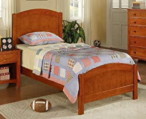 Twin Size Bed Cape Cod Style in Brown Finish