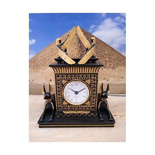 ワールドピクチャー アヌビスドッグ置き時計 エジプト雑貨 W-70627-4580 家電 生活家電 置き時計 掛け時計