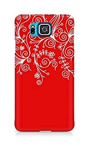 AMEZ designer printed 3d premium high quality back case cover for Samsung Alpha G850 (red white design pattern abstract)