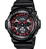 Casio G-Shock GA200SH-1A Glossy Black Mens Watch