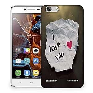 Snoogg I Love You Designer Protective Phone Back Case Cover For Lenovo K5 Vibe