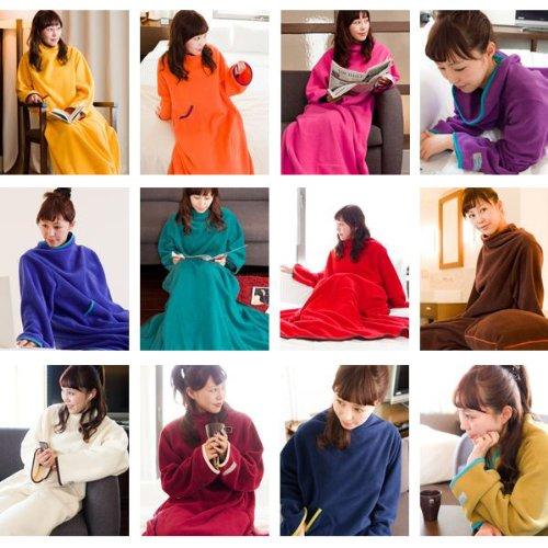 ヌックミィ/NuKME 着る毛布 180cm (男女兼用フリーサイズ) スタンダードガウンケット オレンジ