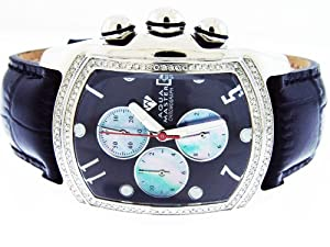 New Aqua Master Bubble Loop 1.25ct Diamond Watch Black Face