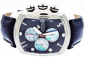 New Aqua Master Bubble Loop 1.25ct Diamond Watch Black Face