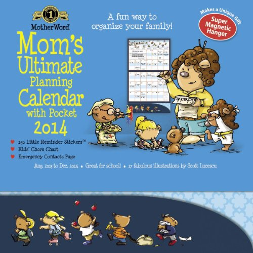 2014 Motherword Magnetic Pocket Wall Calendar
