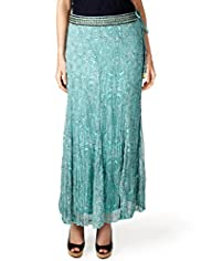 Per Una Paisley Print Maxi Skirt with Embellished Belt