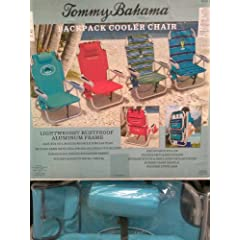 Buy ***Turquoise Tommy Bahama Backpack Cooler Beach Chair & Royal Blue Umbrella Combo*** by Tommy Bahama