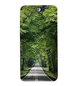 Fuson Premium Back Case Cover Green park With Multi Background Degined For HTC One A9