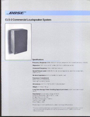 Bose Cls-2 Commercial Loudspeaker System Folder 1983