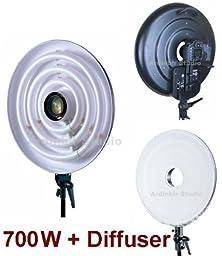 Ardinbir Studio 700W Daylight Cool Macro Ring Light Diffuser Kit for Nikon D3000, D5000, D90, D40, D60, D80, D70, D40x, D50, D70s, D300s, D700, D300, DX, D200, D100, D3s, D3x, D3, D1, D2x, P7700, P7100, P7000, P6000, P5100