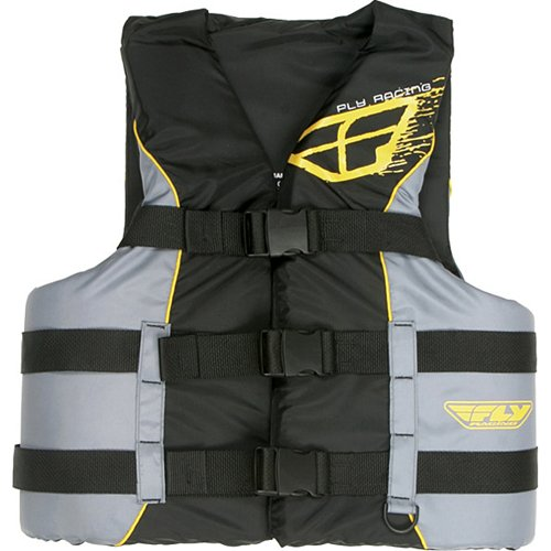 Fly Racing Standard Adult Water Sports Racing Watercraft Vest - Color: Black/Yellow, Size: Small/Medium