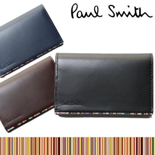 ポールスミス Paul Smith メンズ 本革 カードケース PSU054 牛革 マルチストライプ