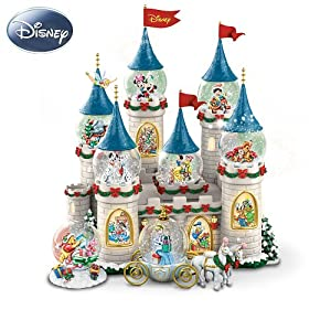 Disney's Christmas At The Castle Miniature Snowglobe Collection from The Bradford Exchange