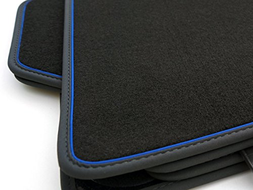 NEU-Fumatten-BMW-5er-E60-E61-Touring-M5-Original-Premium-Qualitt-4-teilig-Velours-schwarzblau