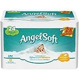 Angel Soft Regular Rolls, 24 Rolls, Pack of 4 (96 Rolls)