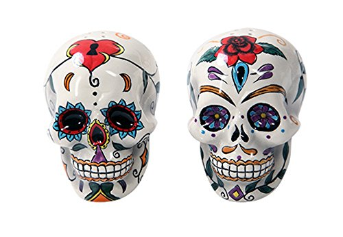 Day Of The Dead Skulls Salt & Pepper Shakers