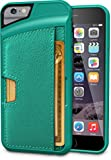 """iPhone 6/6s Wallet Case - Q Card Case for iPhone 6/6s (4.7"""") by CM4 - Ultra Slim Protective Phone Cover (Pacific Green)"""