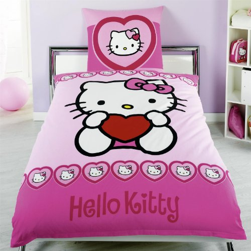 deko idee schlafzimmer im hello kitty design. Black Bedroom Furniture Sets. Home Design Ideas