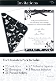Celebration Black and Wedding Invitation Set, 5 x 7-Inches, 25 Invitations and Cards per Set (1597)
