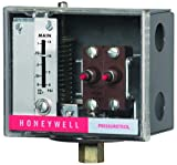 Honeywell Pressuretrol SPST 20-300# break on rise manual reset