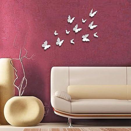 Walplus adhesivos 3d decorativos de pared 12 unidades for Como puedo decorar mi cuarto yo misma