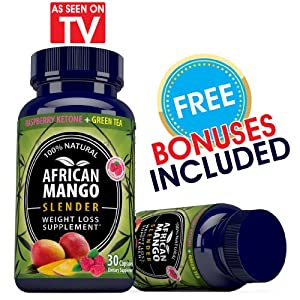 """Dr.Oz"" -- Recommended 100% Pure African Mango & Raspberry Ketone ""Diet Superblend"". Burn Fat & Get Lean Without Exercise Using This Proven Natural Supplement That Has No Side Effects. ""2 FREE EXCLUSIVE BONUSES"" Included With Your African Mango & Raspberr"