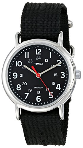 """Timex Unisex T2N647 """"Weekender"""" Watch With Black Nylon Band front-500924"""