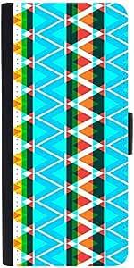 Snoogg Aztec Neon Aqua Designer Protective Phone Flip Case Cover For Samsung Galaxy J2