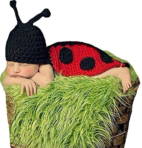 Joy Baby Ladybug Costume Handmade Crochet Knit Photo Prop