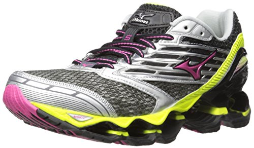 Mizuno Women's Wave Prophecy 5 Running Shoe, Gunmetal/Fuchsia Purple, 8.5 B US (Mizuno Running Shoes Prophecy compare prices)