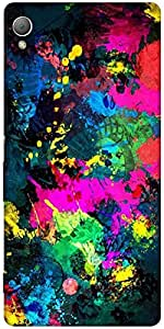 Snoogg Splash Paints Designer Protective Back Case Cover For Sony Xperia Z4