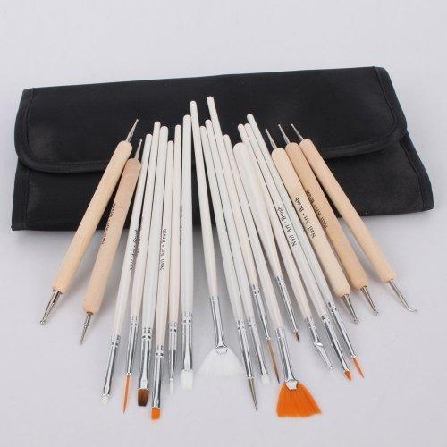 New Pro 20pack Ladies Beauty Box Decorations Nail Tools Series Nail Art Design Painting Detailing Brushes & Dotting Pen / Dotter Tool Kit Set by i-mesh-bean