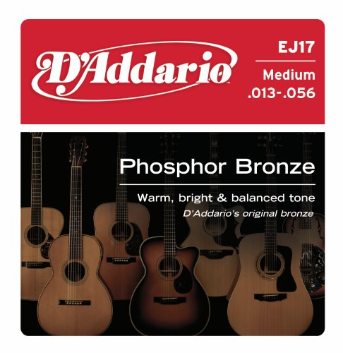 D'Addario EJ17 Phosphor Bronze Medium  (.013-.056) Acoustic Guitar Strings