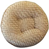 BESSIE AND BARNIE 24-Inch Bagel Bed For Pets, X-Small, Camel Rose