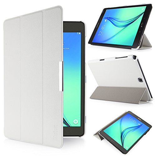 iHarbort® Samsung Galaxy Tab A 9.7 custodia in pelle, premio multi-angoli protettivo di peso leggero Case Cover custodia in pelle per Samsung Galaxy Tab A 9.7 SM-T550 SM-T555 Holder, con sonno auto / sveglia la funzione (Galaxy Tab A 9.7, blanco)