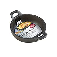 TableCraft CW30102 Cast Iron Round Mini Server, 8-Ounce, Black