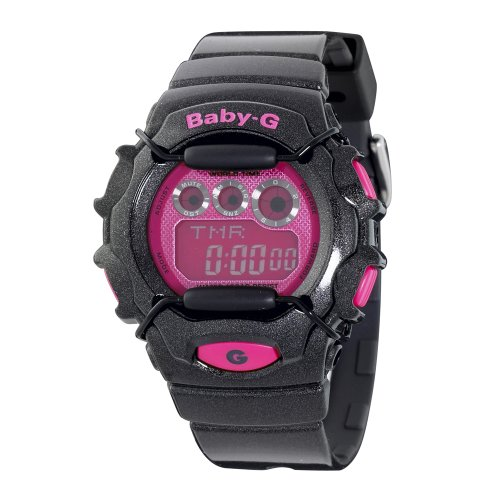 Casio Women's BG1006SA-1CR Baby-G Black and Pink Digital Sport Watch