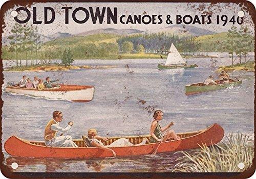 1940-old-town-canoe-e-barche-stile-vintage-riproduzione-in-metallo-tin-sign-305-x-457-cm