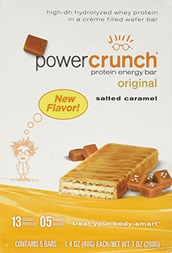 BioNutritional Research Group - Power Crunch Protein Energy Bar Salted Caramel, 5 - 1.4oz Bars by BioNutritional Research Group