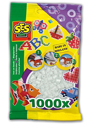 SES Creative Iron On Beads, Clear, 1000-Pack - 1