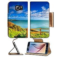 buy Msd Samsung Galaxy S6 Flip Pu Leather Wallet Case Irish Landscape Coastline Atlantic Ocean Coast Scenery Cloudy Blue Sky Church Bay Image 27295797