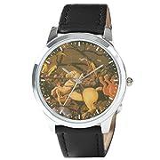 腕時計 トキトマ デザイン ウォッチ mw-062 (パオロ・ウッチェロ サン・ロマーノの合戦 ベルナルディーノ・デッラ・チャールダの落馬)