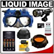 Liquid Image Scuba Series Mid-Size Underwater High Definition Digital Camera Mask HD with 16GB Card + Batteries & Charger + Filter + LED Torch + Accessory Kit