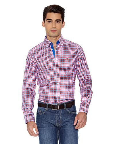La Española Camicia Uomo [Rosso/Blu Avio]